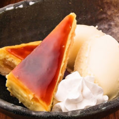 季節のケーキ~バニラアイス添え~